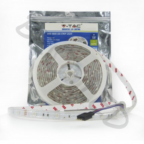 6W SMD5050 30 Led/m RGB IP65 Silicona