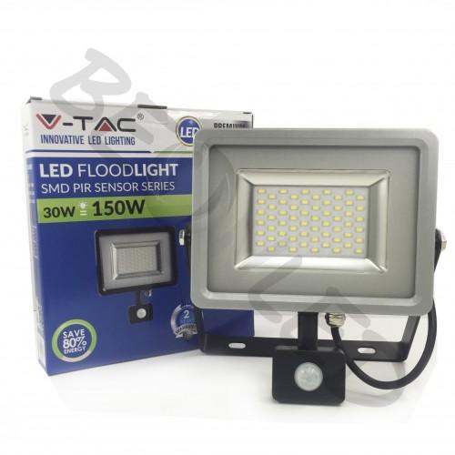 30W Proyector LED Sensor de Movimiento Luz Neutra