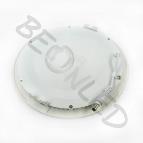 18W Minipanel Led Redondo Plástico Frío 1350 Lm