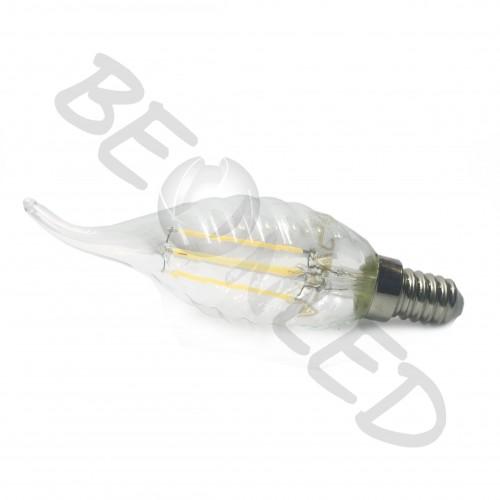 4W E14 Vela Filamentos twist Luz Cálida Regulable