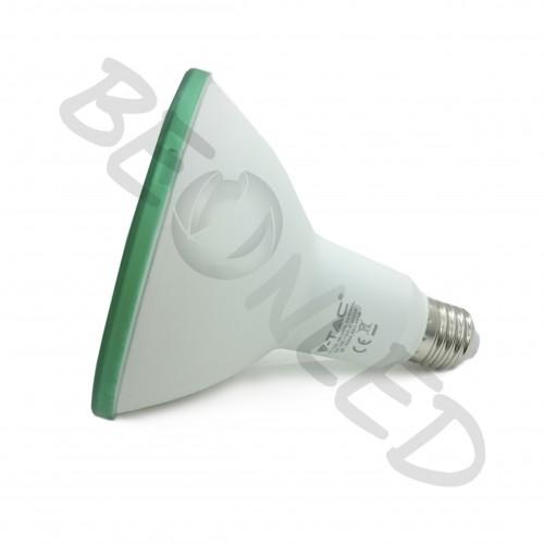 15W Bombilla PAR38 E27 Luz Verde IP65