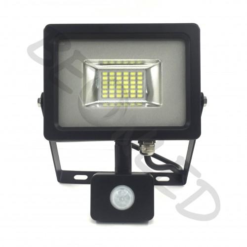 20W Proyector LED Sensor de Movimiento Negro Luz Cálida
