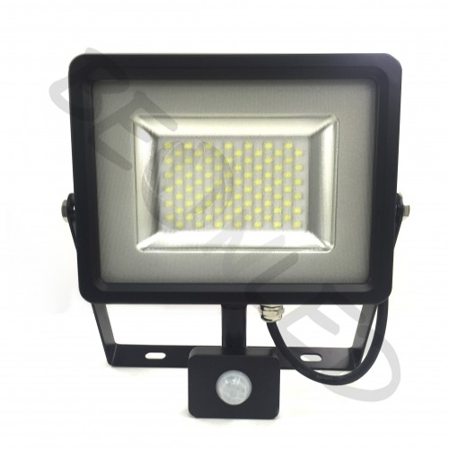 50W Proyector LED Sensor de Movimiento Negro Luz Neutra