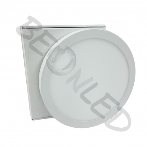 18W Downlight Redondo Superficie Blanco Luz Neutra