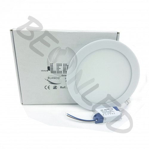 18W Downlight Redondo Ultra Slim Blanco Luz Fría