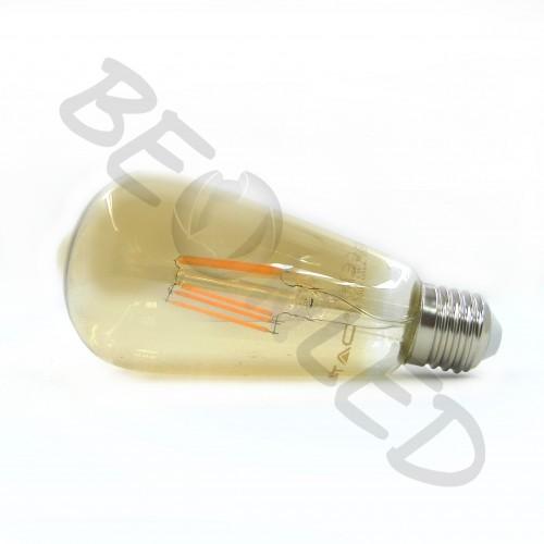 4W E27 ST64 Filamento Amber Cover Luz Cálida Regulable