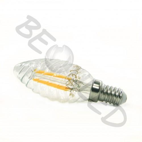 4W E14 Vela Filamento Twist Luz Cálida