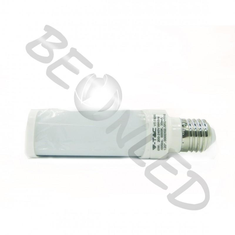 10W Lámpara PL E27 Luz Fría 850Lm
