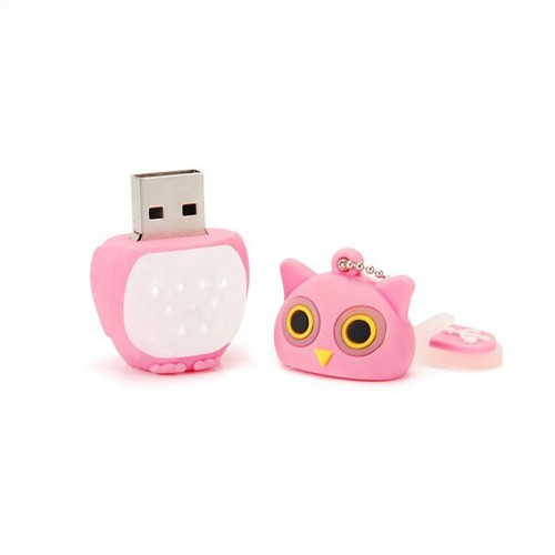 Pen Drive Tech One Tech Búho Huhu Rosa 16GB USB 2.0