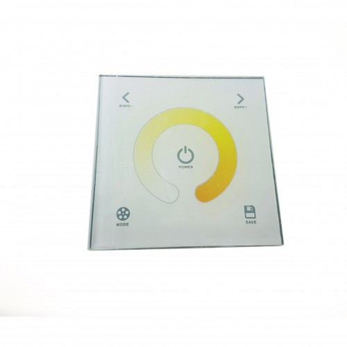 Panel Cristal Touch Dimmer 12/24V 2CHx4A