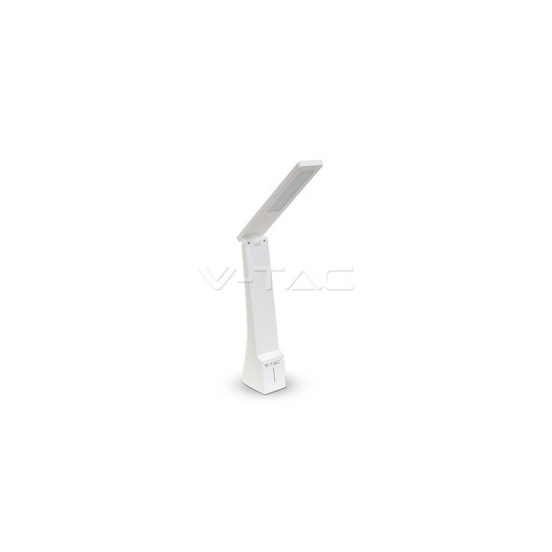 4W Lampara de Escritorio LED Blanco/Plata