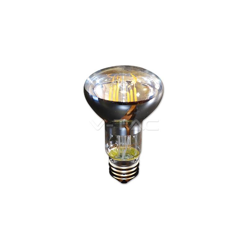 6W E27 R63 Reflectora Filamento Luz Cálida 400 Lúmenes