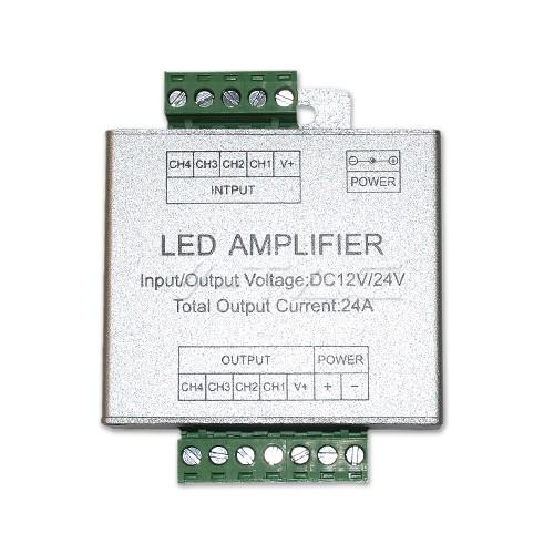 Amplificador para tira de led RGB + Blanco