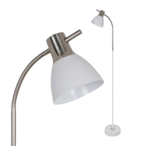 Lámpara de Pie para Bombilla E27 Blanca