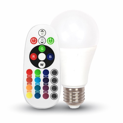 6W E27 A60 Bombilla LED RGB+3000K 470 Lúmenes
