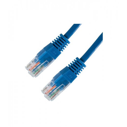 Cable Cat.5E UTP Moldeado 0.5M Azul